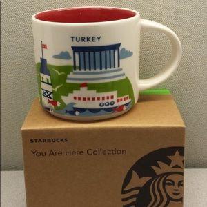 NU Starbucks TURKEY You Are Here Relief Coffee Mug